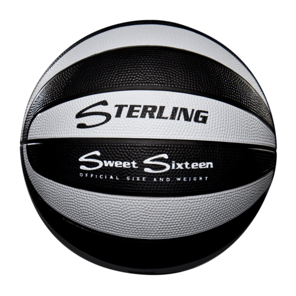 16 Panel Rubber Camp Basketball - Black White