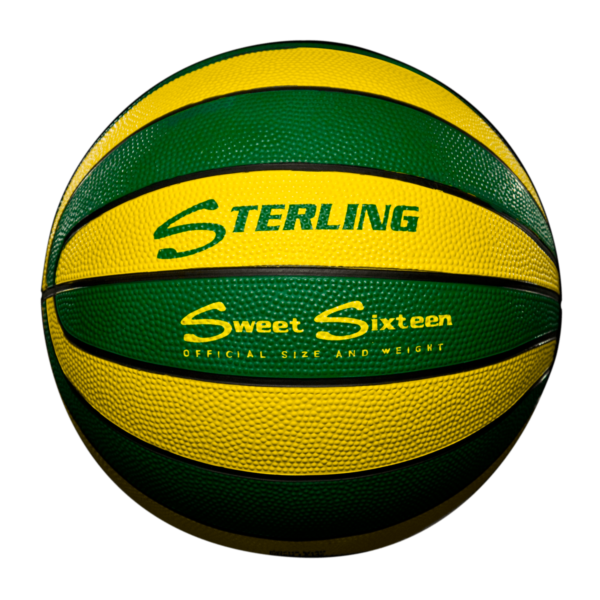 16 Panel Rubber Camp Basketball - Green Gold