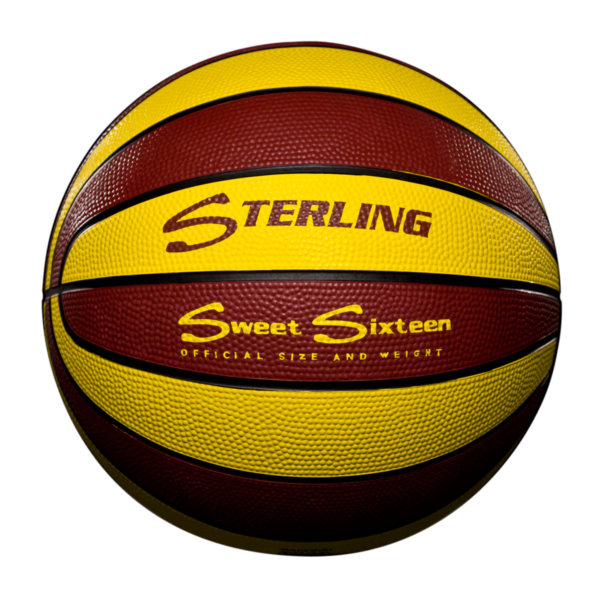 16 Panel Rubber Camp Basketball - Maroon Gold