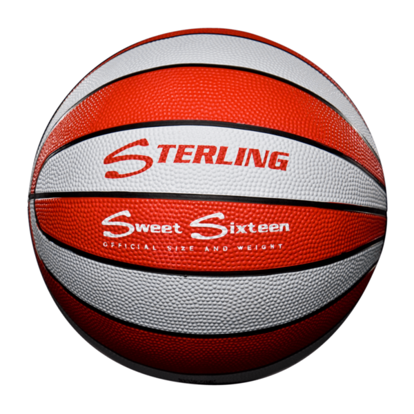 16 Panel Rubber Camp Basketball - Red White