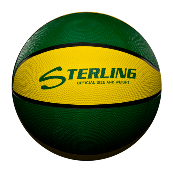 8 Panel Rubber Camp Basketball - Green Gold