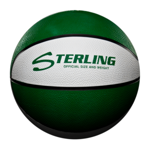 8 Panel Rubber Camp Basketball - Green White