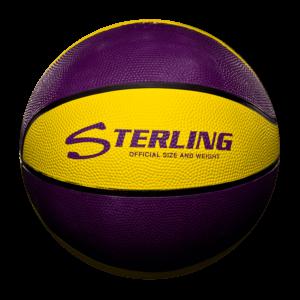 8 Panel Rubber Camp Basketball - Purple Gold