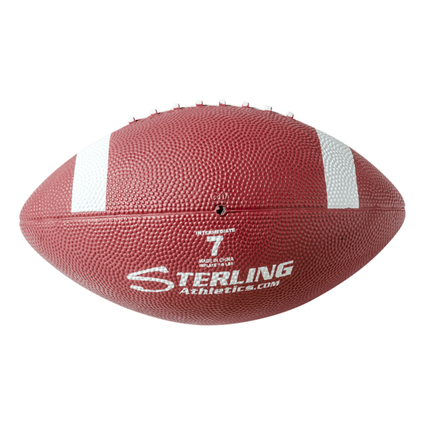 Color Rubber Camp Football Maroon White