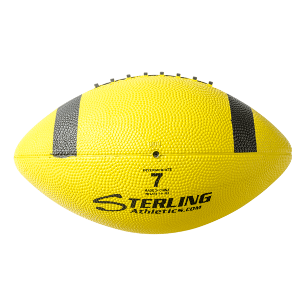 Color Rubber Camp Football Yellow Black