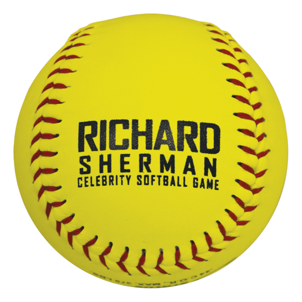 Speed Print Club FastPitch Game Leather Softball - Example 10