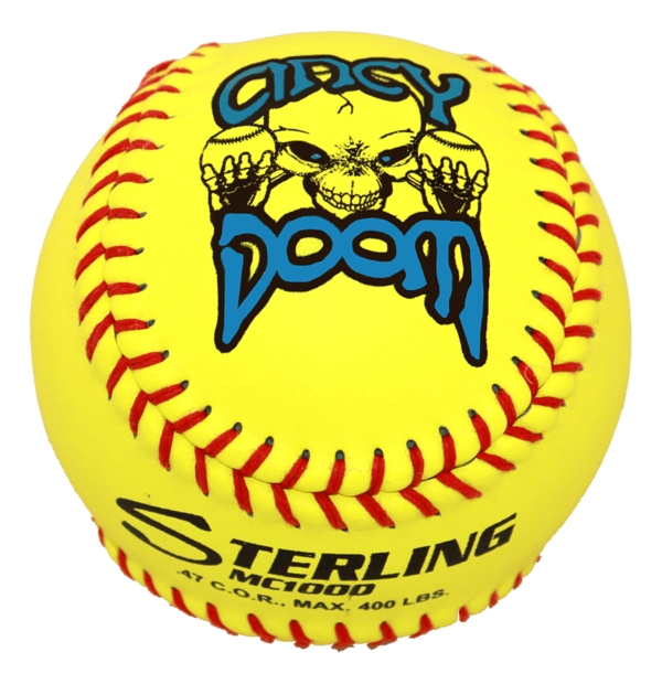 Speed Print MC1000 FastPitch Game Leather Softball - Example 8