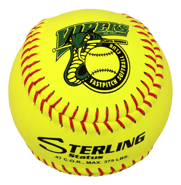 Speed Print Status FastPitch Game Leather Softball - Example 1