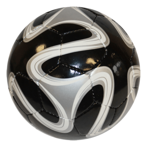 World Cup Hand-Sewn Soccer Ball - Black Silver White