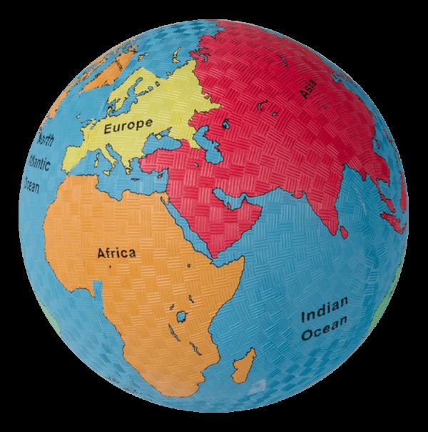 World Globe Playground Ball