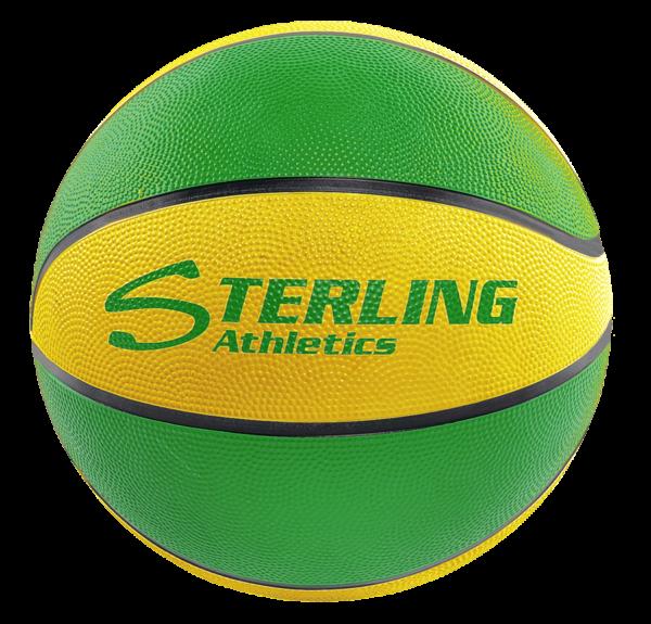 8-Panel Rubber Camp Ball - Green-Gold