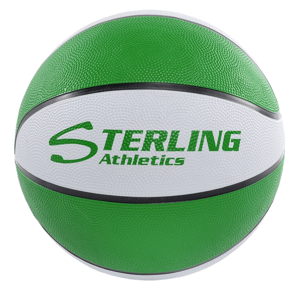 8-Panel Rubber Camp Ball - Green-White