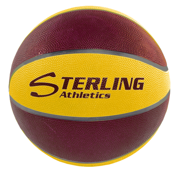 8-Panel Rubber Camp Ball - Maroon-Gold