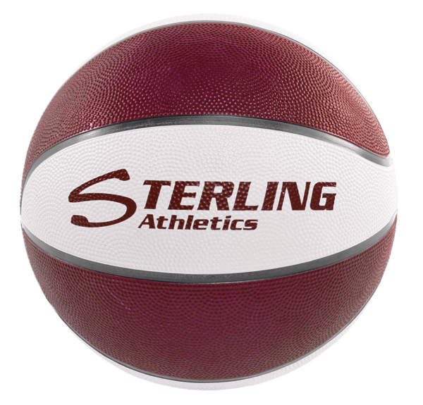 8-Panel Rubber Camp Ball - Maroon-White