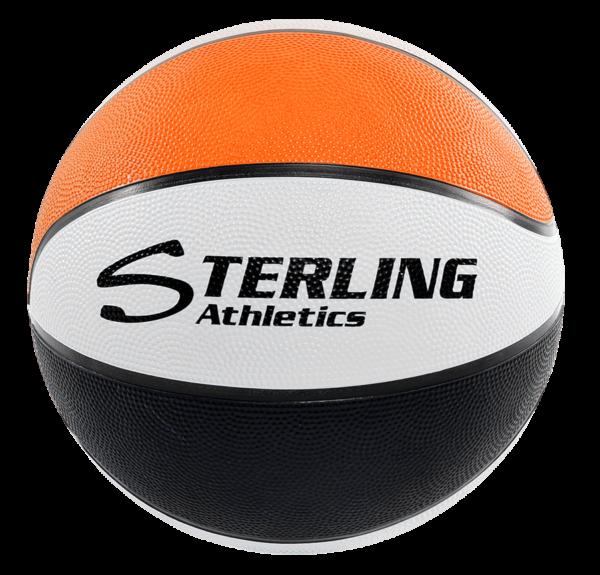 8-Panel Rubber Camp Ball - Orange-White-Black