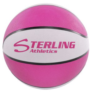 8-Panel Rubber Camp Ball - Pink-White