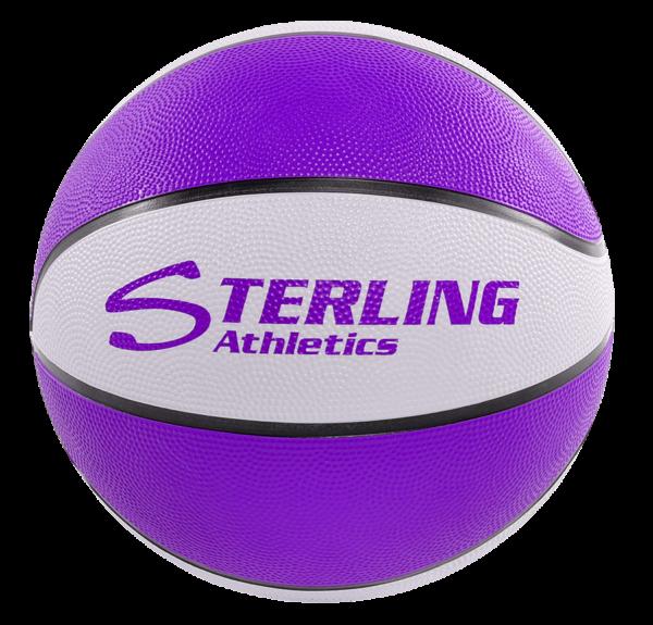 8-Panel Rubber Camp Ball - Purple-White